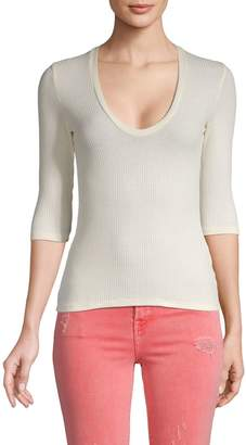 Project Social T Scoopneck Ribbed Top