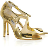 Presta metallic-leather sandals