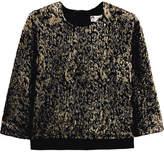 Lanvin Satin-trimmed Metallic Knitted Top - Black