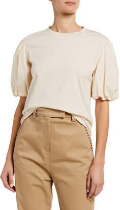 Pinko Puff-Sleeve Crewneck T-Shirt
