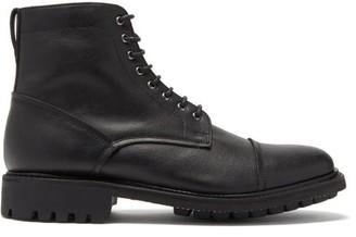 Grenson Joseph Faux-leather Lace-up Boots - Mens - Black