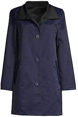 Eileen Fisher Women's Reversible Stand Collar Coat