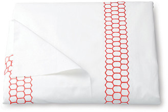Matouk Liana Duvet Cover - Coral Full/Queen