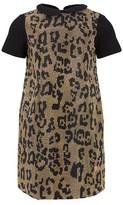 Roberto Cavalli Black Jersey Studded Gold Dress
