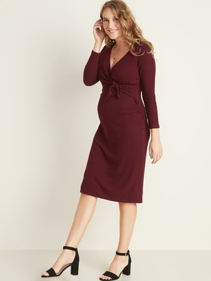 Old Navy Maternity Tie-Front Bodycon Dress