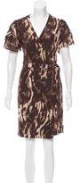 Just Cavalli Printed Wrap Dress w/ Tags