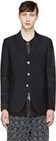 Junya Watanabe Black Wool Patchwork Blazer
