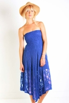Nightcap Clothing Victorian Lace Tube Dress in Blue Violet