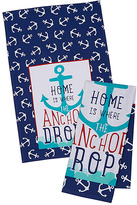 'Home Is Where the Anchor Drops' Dish Towel - Set of Two