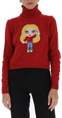 Chiara Ferragni Logo Embroidered Roll Neck Sweater