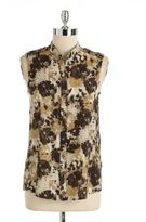 Vince Camuto Sleeveless Button-Front Blouse