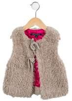 Lili Gaufrette Girls' Faux Fur Vest