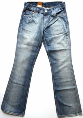 Levi's 529 Boot Cut Jeans New Vintage Woman Girls Distressed Blue (26x32)