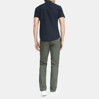 Theory Sylvain Short-Sleeve Shirt in Stretch Cotton