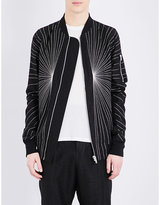 Rick Owens Embroidered Jacquard Bomber Jacket