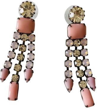 Tom Binns Pink Metal Earrings