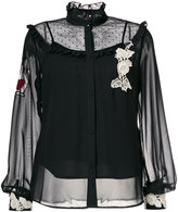 RED Valentino sheer embroidered fitted blouse