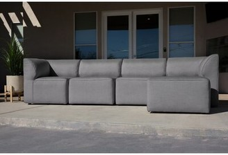 Big Joe Orahh 5 Piece Sunbrella Sectional Seating Group with Cushions Color: Slate