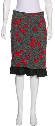 Billy Reid Wool Knee-Length Skirt