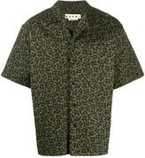Marni Camo Cells print short-sleeved shirt