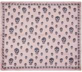 Alexander McQueen Classic skull silk chiffon scarf