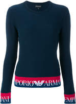 Emporio Armani logo banded tee