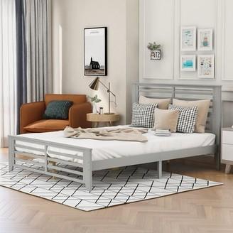 Red Barrel Studio Bettylu Queen Platform Bed Color: Gray