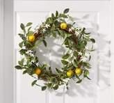 Pottery Barn Faux Lemon & Jasmine Wreath