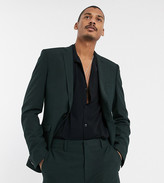 Heart & Dagger suit jacket in mini check-Green