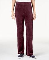 Karen Scott Petite Velour Pull-On Pants, Only at Macy's