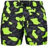Topman Neon Camo Swim Shorts