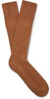 Mr. Gray - Textured-knit Socks - Tan