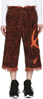 Haal Black & Orange Rita Towelling Shorts