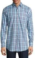 Peter Millar Chateau Plaid Casual Button-Down Shirt