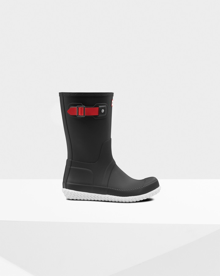Hunter Men's Original Flat Heel Calendar Sole Short Rain Boots