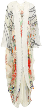 Camilla Maiko Crystal-embellished Silk Crepe De Chine Kimono