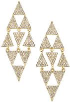 Blu Bijoux Crystal Triangle Chandelier Earrings