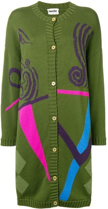 A.N.G.E.L.O. Vintage Cult 1980's Graphic Knitted Cardigan