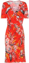Diane von Furstenberg Floral-printed silk wrap dress