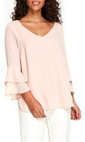 Wallis Women's Tiered Bell Sleeve Blouse