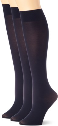 Hue Soft Opaque Knee High Socks (Pack of 3)