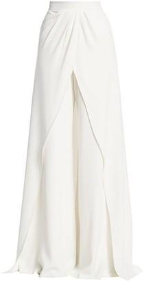 Brandon Maxwell Carolina Crepe Skirt Trousers