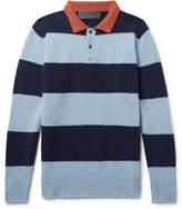 The Elder Statesman Slim-Fit Striped Cashmere Sweater