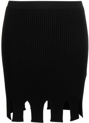 Bottega Veneta High-Waist Ribbed-Knit Skirt