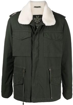 Mr & Mrs Italy Multi-Pocket Fur-Collar Jacket