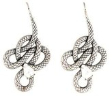 Lalique Serpent Crystal Drop Earrings