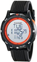 Freestyle Unisex 10017007 Navigator Digital Black Watch with Orange Accents