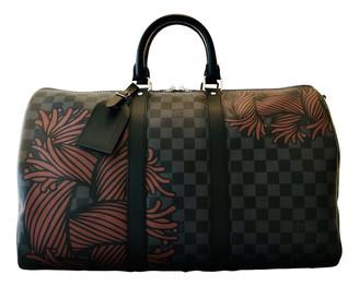 Louis Vuitton Keepall Black Cloth Bags