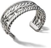 David Yurman Wellesley Link Pave Diamonds & Sterling Silver Cuff