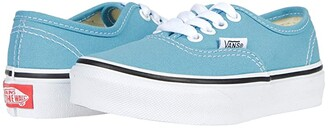 Vans Kids Authentic (Little Kid) (Delphinium Blue/True White) Kids Shoes